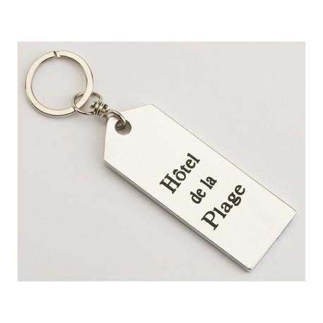 Porte-clés aluminium plat