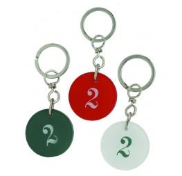 Porte-clés rond altuglass numéro