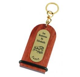 Porte-clés bois gravé