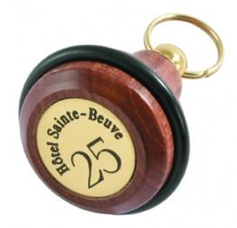 Porte-clés poire bois-laiton