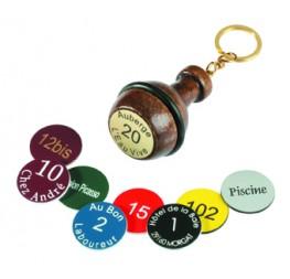 Porte-clés poire bois