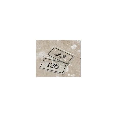Plaque signalétique transparente 120x70 mm