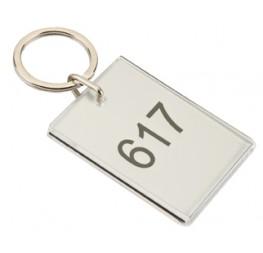 Porte-clés plexi transparent à personnaliser