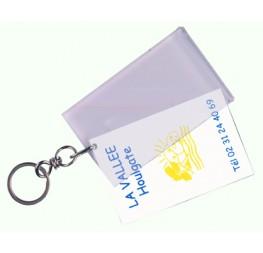 Porte-clés altuglass transparent plié