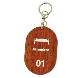 Porte-clés bois oblong