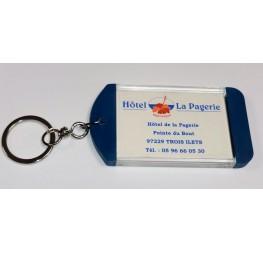 DESTOCKAGE Lot de 50 Porte-clés mini clip ( bleu pétrol)
