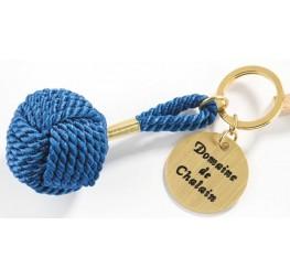 Porte-clé pomme tuline bleu